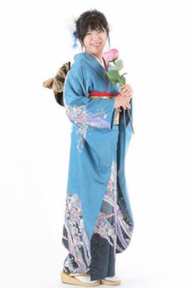 オリエンタル和装の着付けでドレスに